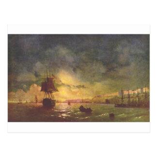 Cartão Postal Odessa na noite por Ivan Aivazovsky