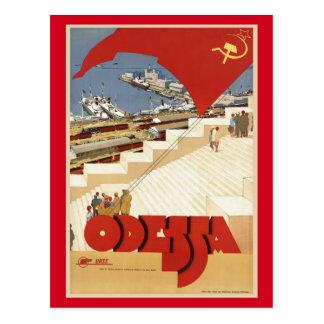 Cartão Postal Odessa, Odesa, viagens vintage de Ucrânia