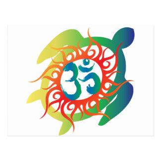 Cartão Postal OM-Tatto-Vibrante-Tartaruga