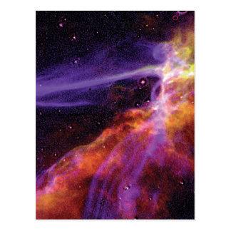 Cartão Postal Onda de explosão cósmica colorida do Supernova de