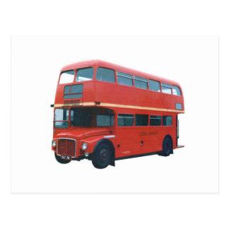 Cartão Postal Ônibus vermelho icónico Poscard de Londres