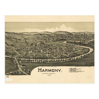 Cartão Postal Opinião aérea Harmonia, Pensilvânia (1901)