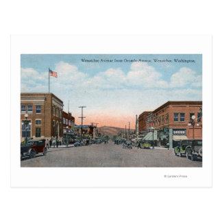 Cartão Postal Opinião da avenida de Wenatchee da avenida de