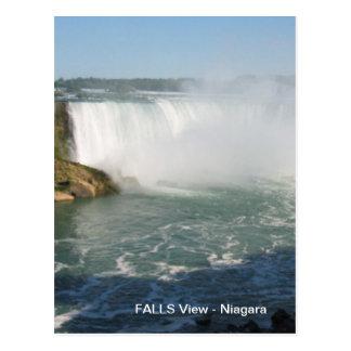 Cartão Postal Opinião das quedas: Niagara EUA Canadá