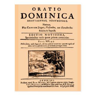 Cartão Postal Oratio Dominica