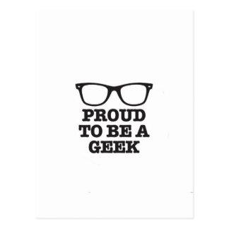 Cartão Postal Orgulhoso ser um geek