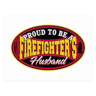 Cartão Postal Orgulhoso ser um marido dos sapadores-bombeiros