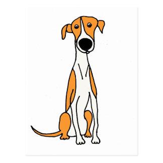 Cartão Postal Original bonito dos desenhos animados do cão do