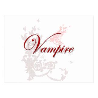 Cartão Postal Ornamental do vampiro