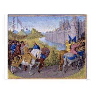 Cartão Postal Os cruzados chegaram em Constantinople