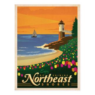 Cartão Postal Os Estados Unidos do nordeste das costas |