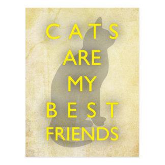 Cartão Postal Os gatos são meus melhores amigos
