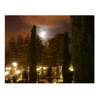 Cartão Postal Os jardins em Bahjí na noite