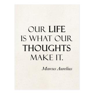 Cartão Postal Os pensamentos da vida de Marcus Aurelius do