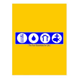 Cartão Postal Os quatro fundamentos para a vida