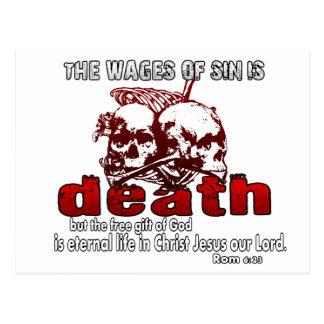 Cartão Postal Os salários do pecado são MORTE