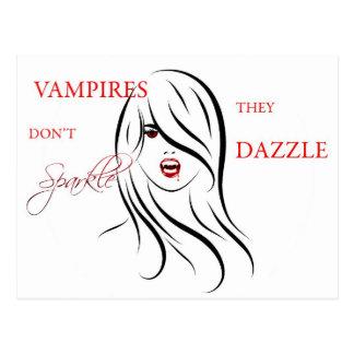 Cartão Postal Os vampiros não fazem faísca, eles brilham
