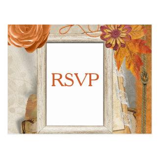 Cartão Postal Outono que Wedding RSVP