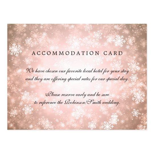 Cartão Postal País das maravilhas elegante do inverno do cobre