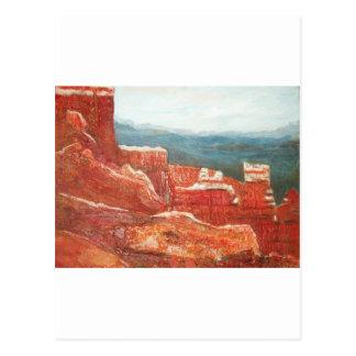 Cartão Postal paisagem da garganta