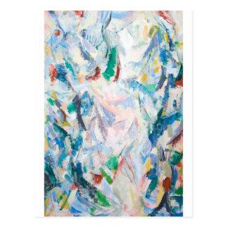 Cartão Postal Paisagem pairosa do Cubism (cubism abstrato)