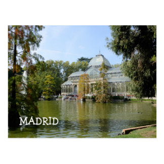 Cartão Postal Palácio de cristal, Madrid