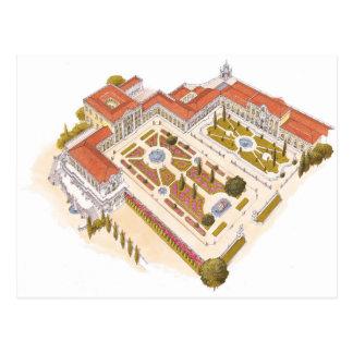 Cartão Postal Palácio do nacional de Queluz. Lisboa Portugal