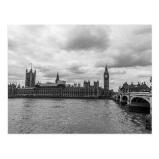 Cartão Postal Palácio preto & branco do viagem de Westminster