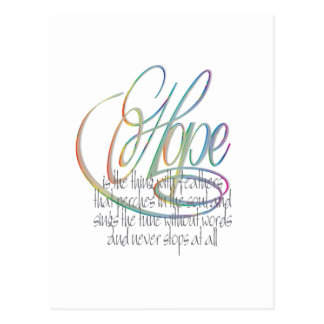 Cartão Postal Palavras da esperança