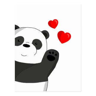 Cartão Postal Panda bonito