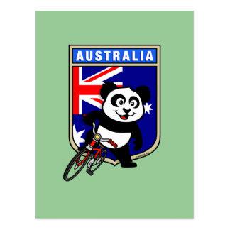 Cartão Postal Panda do ciclismo de Austrália