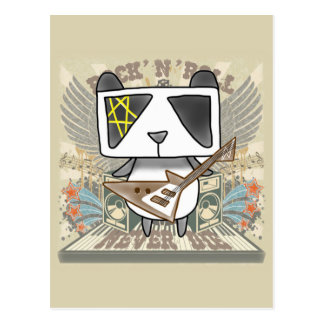 Cartão Postal Panda do rock and roll