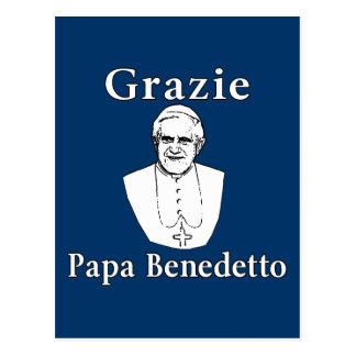 Cartão Postal Papa Benedict de Grazie