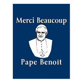 Cartão Postal Papa Benedict de Merci Beaucoup