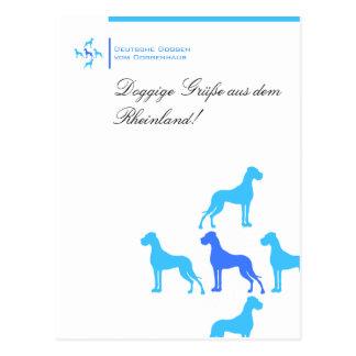 Cartão postal para Doggenzüchter