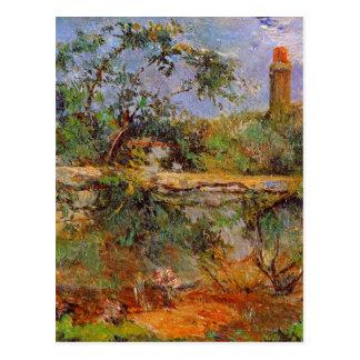 Cartão Postal Parede de partido por Paul Gauguin
