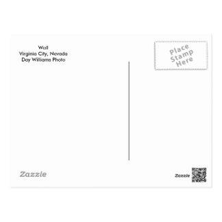Cartão Postal Parede, Virginia City, Nevada