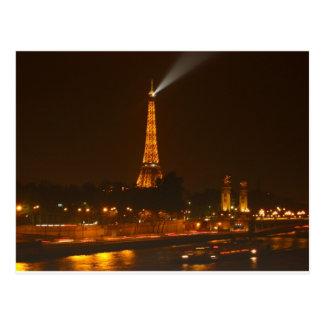 Cartão Postal Paris na noite