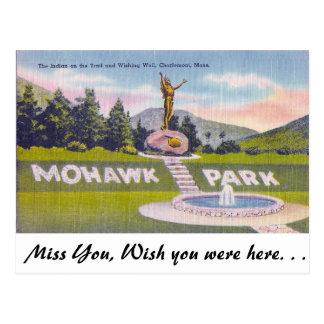 Cartão Postal Parque do Mohawk, Charlemont, Massachusetts