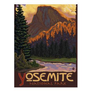 Cartão Postal Parque nacional de Yosemite - meia abóbada -