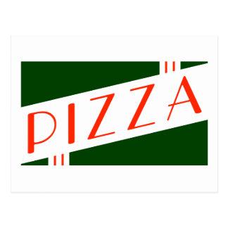 Cartão Postal partido retro da pizza