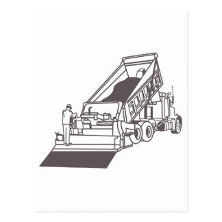 Cartão Postal Pavimentando o esboço do caminhão