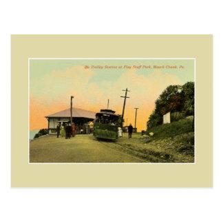 Cartão Postal Pedaço Pensilvânia de Mauch da estação do trole do