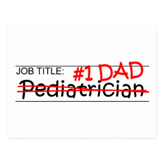 Cartão Postal Pediatra do pai do trabalho