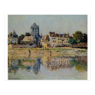Cartão Postal Pelo rio em Vernon por Claude Monet