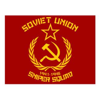 Cartão Postal Pelotão do atirador furtivo de União Soviética