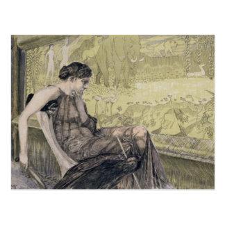 Cartão Postal Penélope que tece uma saia para Laertes seu pai-eu