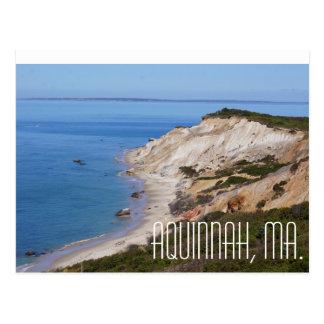 Cartão Postal Penhascos de Aquinnah Massachusetts que
