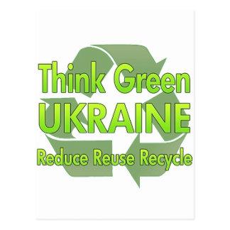 Cartão Postal Pense verde Ucrânia