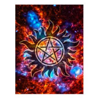 Cartão Postal Pentagram cósmico